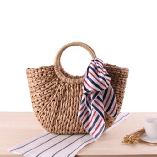 Low price summer beach bag handmade wholesale straw bag tote women handbags
