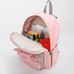 New design cute baby milk insulation bags waterproof mommy bag backpack Diaper bag