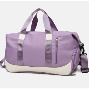 Waterproof large travel bags gym duffel bag with shoe compartment Mommy's handbag
