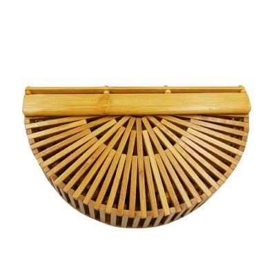 new bamboo hand bag handmade Semicircular bamboo clutch bag