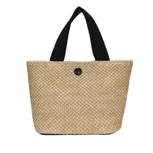 2021 latest summer women reusable handle straw beach bags
