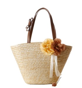 New fashion women ladies handbags wheat straw beach bag tote basket bags