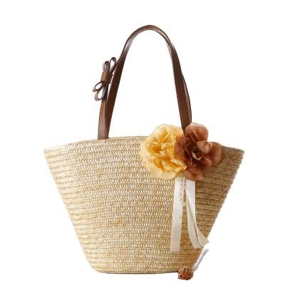 New fashion women ladies handbags wheat straw beach bag tote basket bag
