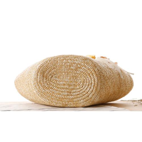 New fashion women ladies handbags wheat straw beach bag tote basket bags