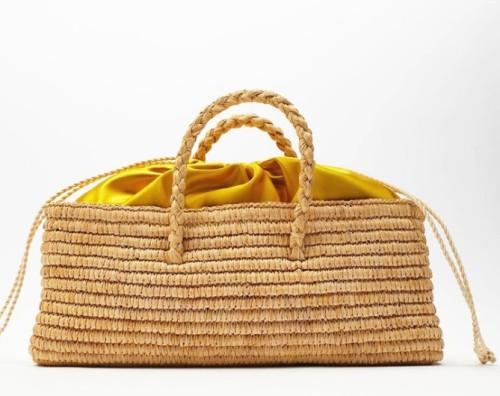 Custom hand-woven bohemian beach bag fashion rectangular straw woven female handbag