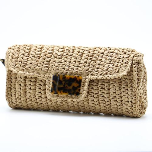 2021 newst hand woven bohemia beach long shape bag fashion straw bags women handbags