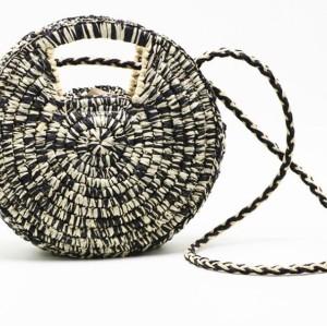 Wholesale hand woven bohemia beach circle bag fashion round rattan straw bags women handbags