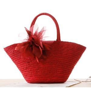 2021 wheat straw beach bag ladies handbag fashion woven hat shaped shoulder bag customization