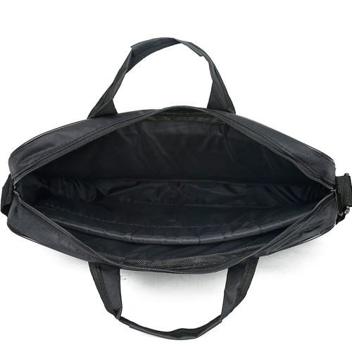 High quality black color nylon laptop shoulder messenger bag for men