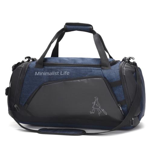 custom waterproof nylon sports big capacity travel duffel bags with shoe compartment