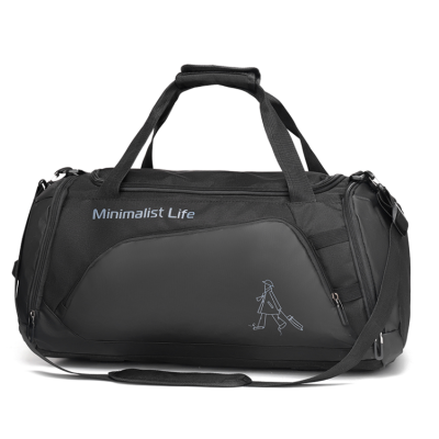 custom waterproof nylon sports big capacity travel duffel bags with shoe compartment