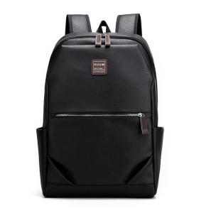 Wholesale Waterproof casual business men pu backpack school bag