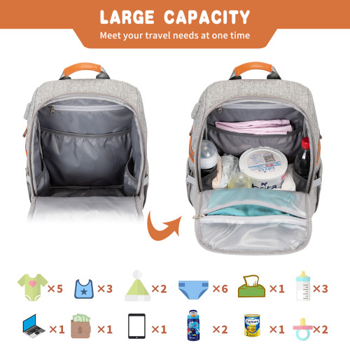 Factory Wholesale Big Capacity Multi-Functional Diaper Bag Mommy Backpack for Baby Care