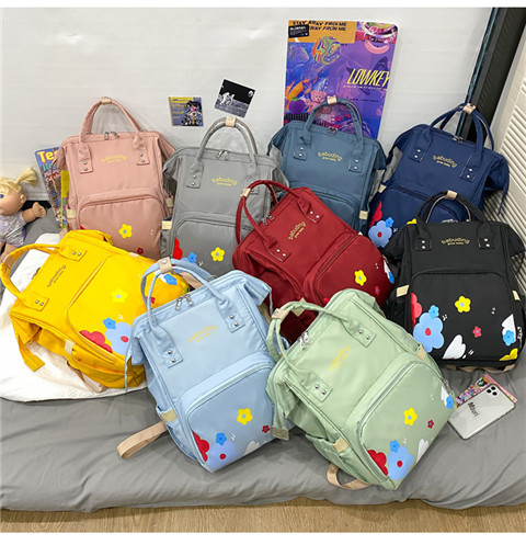 babytas met bed Diaper Bag Big Capacity Multi-Functional Diaper Bag Mommy Backpack for Baby Care