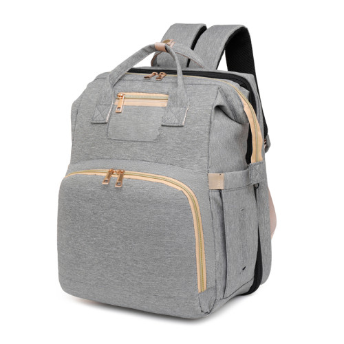 babytas met bed Diaper Bag Big Capacity Multi-Functional with Changing Pad Casual Mommy Backpack for Baby Care