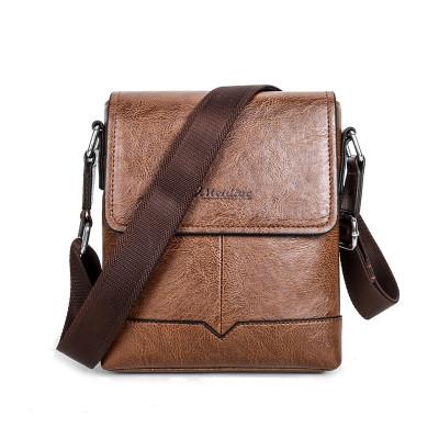 New trending men messenger leather bags waterproof leisure messenger bag shoulder bag business