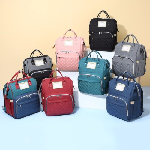 Diaper Bag With Changing Station USB Charge Waterproof multifunction baby diaper bags