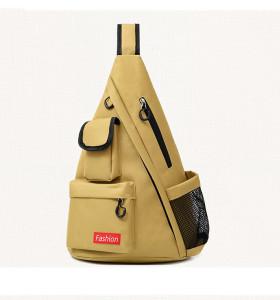 Custom waterproof multi function laptop leisure travel men canvas chest bag