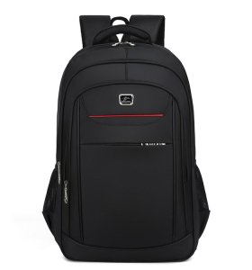 Custom 20inch nylon travel black men casual laptop backpack