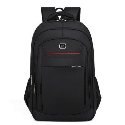 Custom 20inch nylon travel black men casual laptop backpack