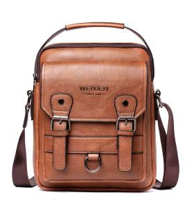 Hot Sale Leather Men Sling Bag Leisure Crossbody Men Messenger Bag