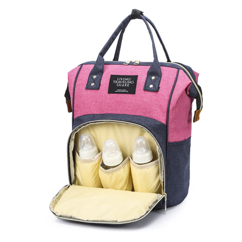 Travel Mommy Nappy Diaper Bag Backpack With Stroller Straps For Baby Care