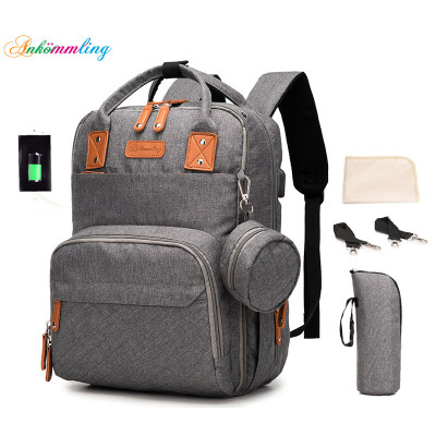 High Quality Multi-function USB Large Capacity Diaper Mom Bag Dacron  Nylon bags