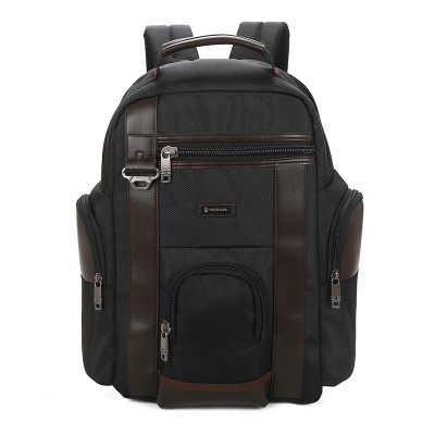 Custom big capacity travel leisure college student black computer oxford backpack