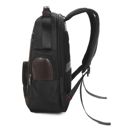Custom big capacity travel leisure college student black computer oxford backpack