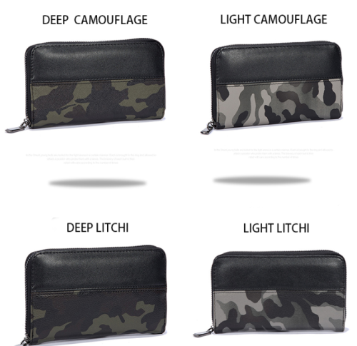 Custom fashion high quality camo leisure business pu men clutch bags