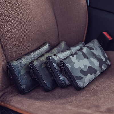 Custom fashion high quality camo leisure business pu men clutch bags