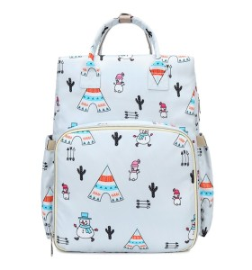 baby girl bags luiertas 2021 portable outdoor changing printed unique nylon travel cloth baby diaper bag