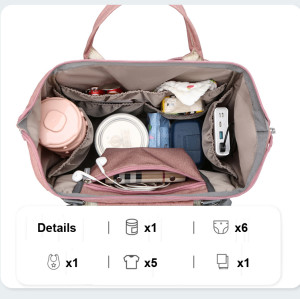Custom sac a langer usb Large Capacity Outdoor Charging Mommy Baby Crib Diaper Bag