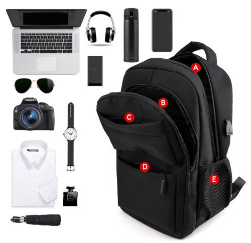 Usb man laptop backpack Plecak large capacity fashion laptop bag waterproof custom laptop bag