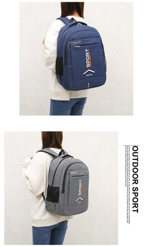 Design Polyester Traveling Backpack mochilas Rucksack Unisex Waterproof Durable Black Backpack Laptop Bags