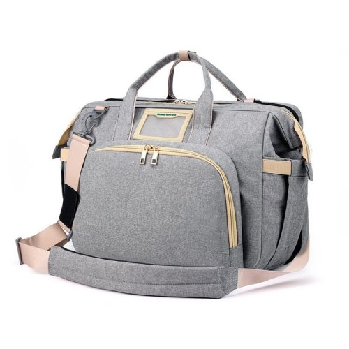 Newest shoulder mommy backpack multifunction handle baby diaper bag with sleeping bed