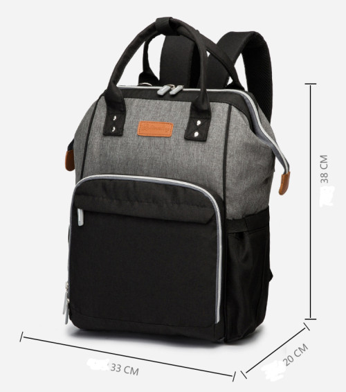 Latest 2021 Multifunctional Custom Waterproof Travel Mom Back Pack Nappy Changing Bag Fashion Mommy Backpack Baby Diaper Bag