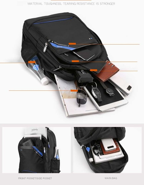Multifunctional Design Polyester Laptop Backpack Modern College University Trolley Laptop Backpack