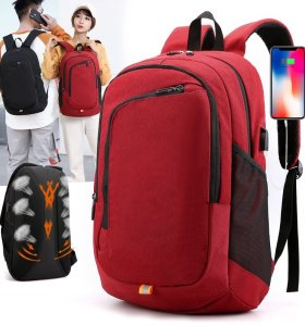 Travelling Multifunctional Laptop Backpack  Design Polyester School Laptop Backpack with USB Charge