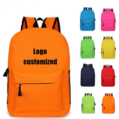 Preppy Style backpack customizable logo print colorful  student backpack bag