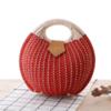 2021 fashion round straw beach bag straw tote bag