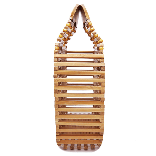 INS popular handmade natural round bamboo bags woven bag lady hand bags Rattan straw bags