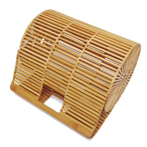 Women bamboo handle bag handmade bamboo purse tote bag