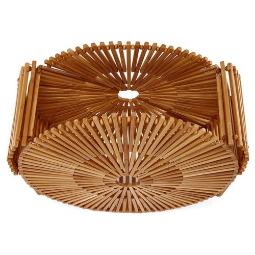 Womens Bamboo Handbag Handmade Summer Large Tote Beach Bag
