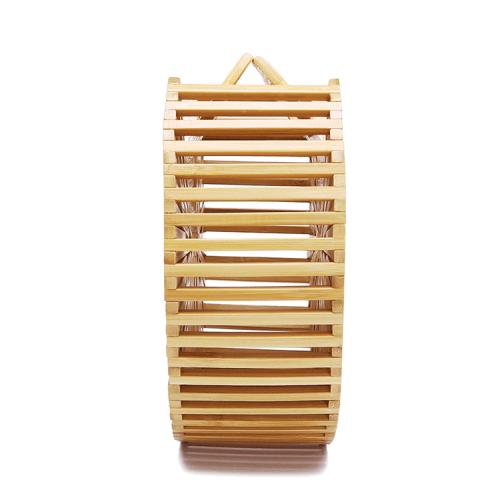 Bamboo Beach Bag Handmade Round Bamboo Clutch Bags