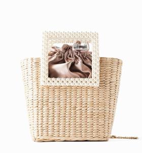 OEM beach ladies summer handbag wholesale straw woven tassel messenger bag