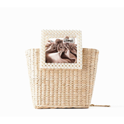 OEM beach ladies summer handbag wholesale straw woven tassel messenger bags