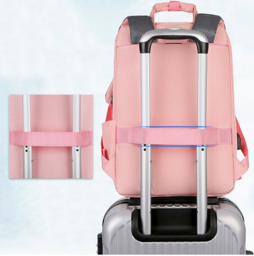 Waterproof Laptop Trolley Backpack Multifunctional Business Laptop Backpack with USB Charger