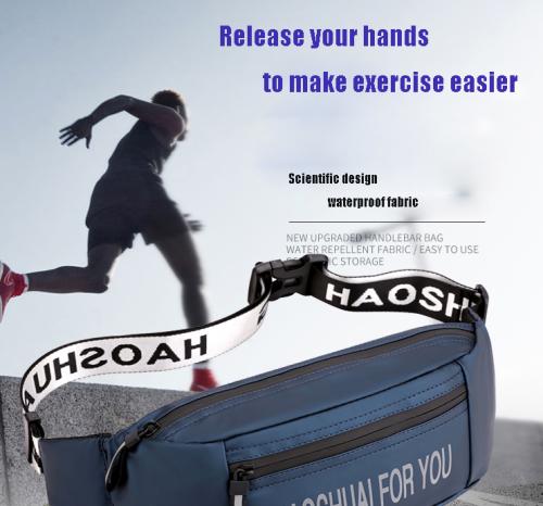 custom logo waist bag for men Messenger Chest Bags waterproof sports nylon crossbody chest bag