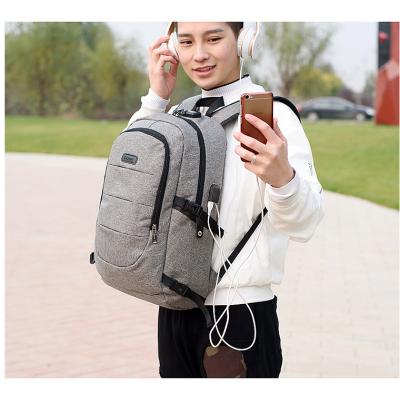 Custom Logo Laptop Backpack mochila Softback Modern Design Office Bags Laptop Backpack with USB Charger port
